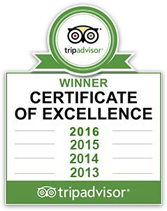 tripadvisor winner certificate of excellence