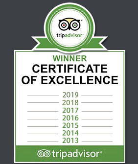tripadvisor certificate of excellence 2013-2014-2015-2016-2017