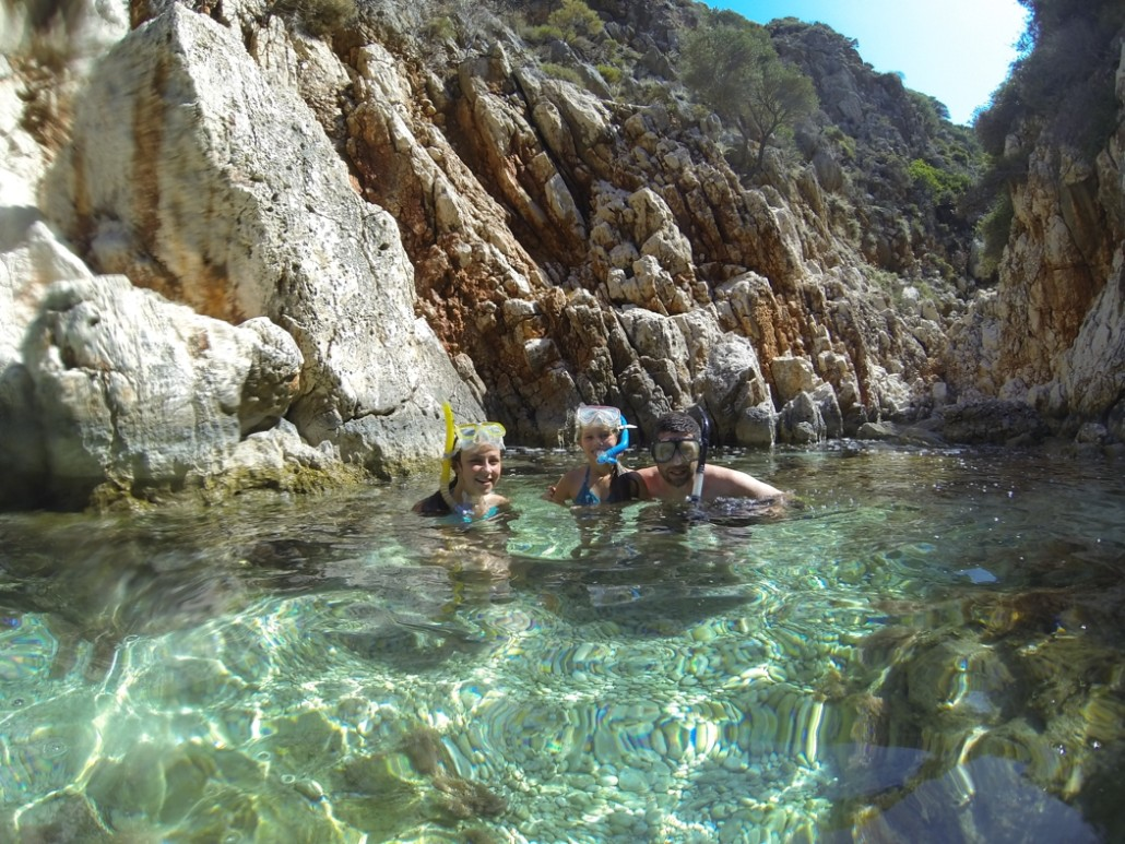 snorkelling in kalkan